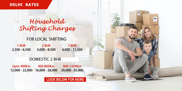 Packers and Movers Delhi Charges at Standard Rates
