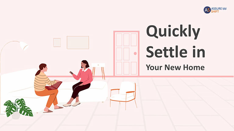 How to quickly settle in your new home