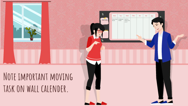 Arrange your all Moving Task on a Calender