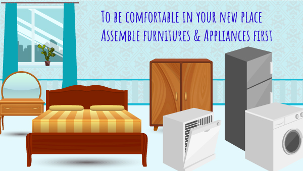 First Assemble Your Furniture and Right away Needed Appliances