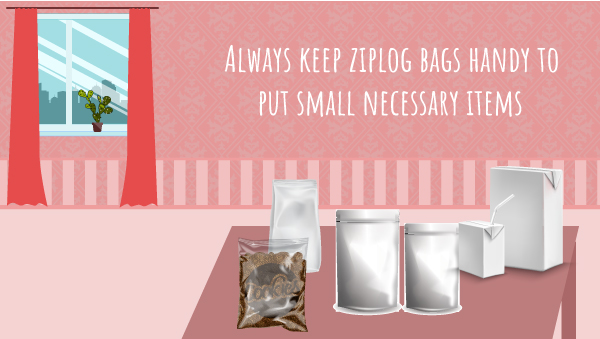 Keep Ziploc Bag Handy