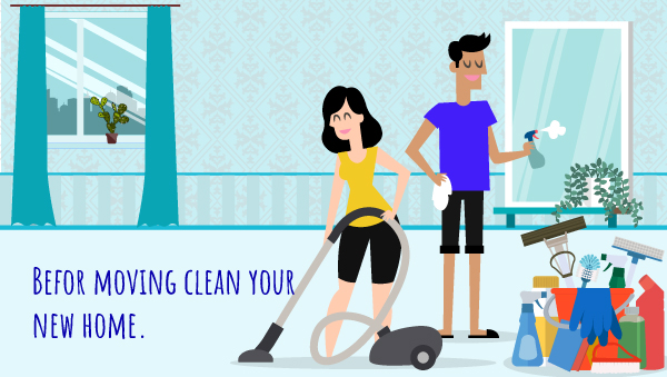 Pre-clean Your New home Before Move