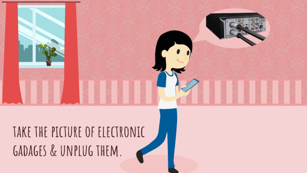 Take Pictures of your Electronic Before Unplug Them