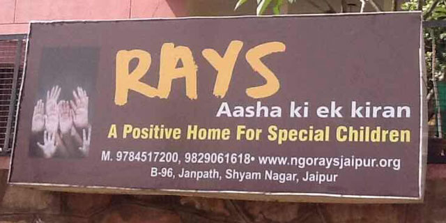 Address Board Of Rays Aasha Ki Ek Kiran In Jaipur