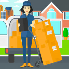 Careful Loading and Unloading Services by Good Packers and Movers Hafeezpet