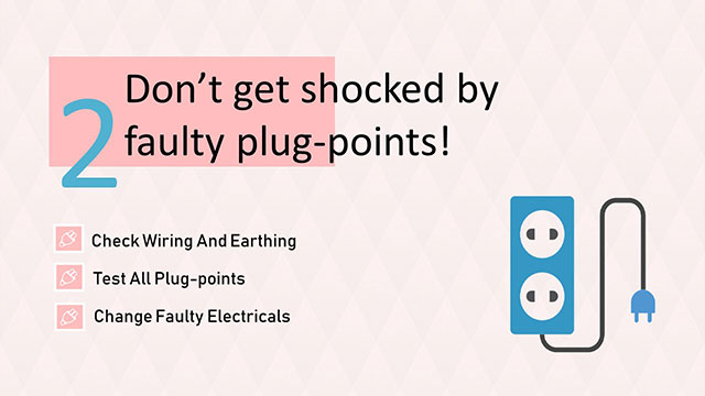 Check electrical plug points