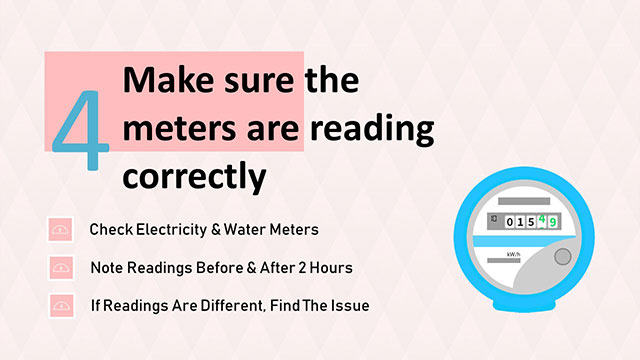 check electricity meters