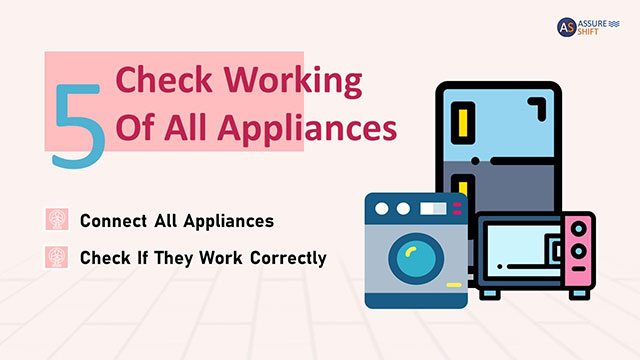 Check the working status of appliances
