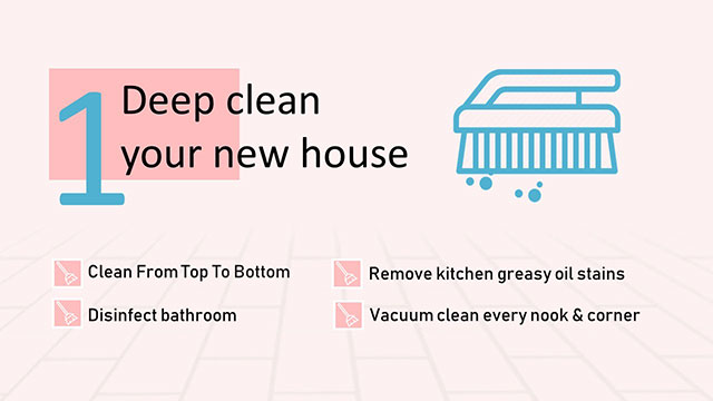 Deep clean your new house