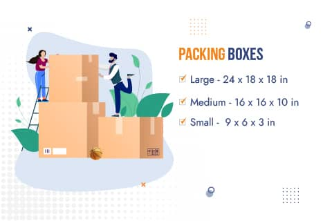 Movers and Packers Noida Packaging Material Box Sizes
