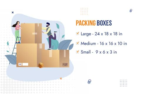 Movers and Packers Patna Packaging Material Box Sizes