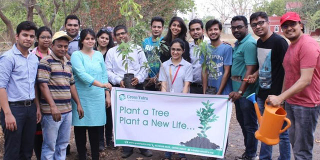 Plant A Tree Initiative by Green Yatra Lucknow
