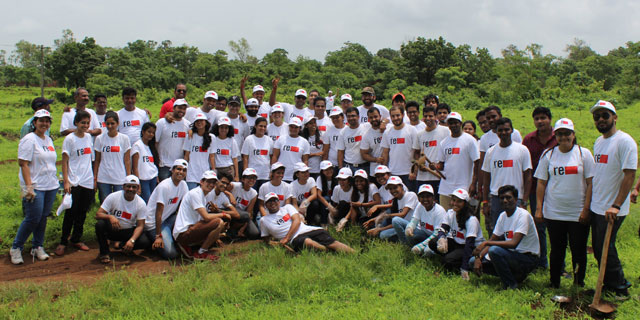 The Green Yatra Team After Tree Planting Campaign