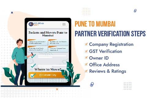 AssureShift Packers and Movers Pune to Mumbai Partner Verification