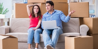 couple thinking about shifting or selling their households